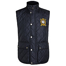 Buy Hackett London British Polo Day Quilted Gilet, Black Online at johnlewis.com