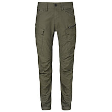 Buy G-Star Raw Tapered Cotton Cargo Trousers, Raw Grey Online at johnlewis.com