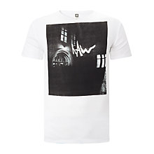 Buy G-Star Raw Moiric Slim Fit T-Shirt, White Online at johnlewis.com