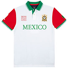 Buy Hackett London British Polo Day Mexico Team Polo Shirt, White/Green Online at johnlewis.com