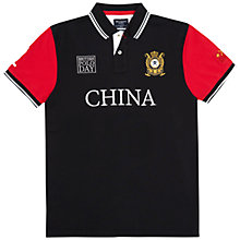 Buy Hackett London British Polo Day China Team Polo Shirt, Black/Grey Online at johnlewis.com