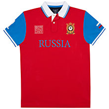 Buy Hackett London British Polo Day Russia Team Polo Shirt, Red Online at johnlewis.com