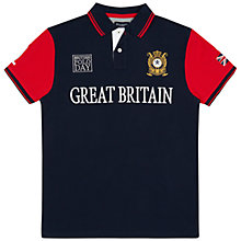 Buy Hackett London British Polo Day Great Britain Team Polo Shirt, Navy/White Online at johnlewis.com
