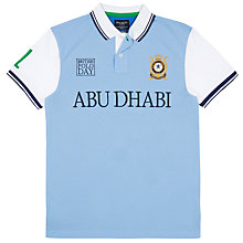 Buy Hackett London British Polo Day Abu Dhabi Team Polo Shirt, White/Blue Online at johnlewis.com