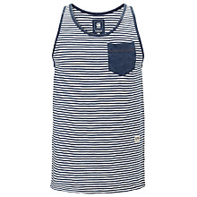 Buy G-Star Raw Omaros Vest Top, Indigo/White Online at johnlewis.com