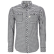 Buy G-Star Raw Landoh Gingham Shirt, Black Online at johnlewis.com
