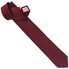 Buy Thomas Pink Prince of Wales Check Slim Tie, Red Online at johnlewis.com