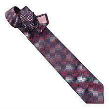 Buy Thomas Pink Wilson Silk Woven Grid Tie, Red/Blue Online at johnlewis.com