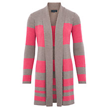 Buy Viyella Stripe Long Line Merino Cardigan, Mink Online at johnlewis.com