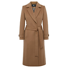 Buy Viyella Longline Wrap Coat, Camel Online at johnlewis.com