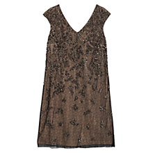 Buy Violeta by Mango Sequin Embroidered Dress, Rust / Copper Online at johnlewis.com