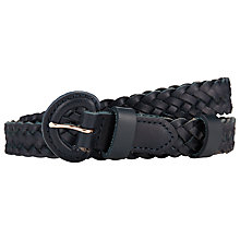 Buy John Lewis Leather Medium Plaited Belt Online at johnlewis.com
