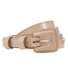 Buy John Lewis Skinny Covered Buckle Belt Online at johnlewis.com