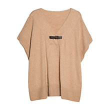 Buy Violeta by Mango Buckle Alpaca Cape Knit Top Online at johnlewis.com