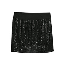Buy Mango Beaded Embroidery Skirt, Black Online at johnlewis.com