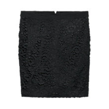 Buy Violeta by Mango Guipure Skirt, Black Online at johnlewis.com