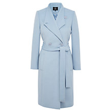 Buy Viyella Asymmetric Wool Blend Coat, Pale Blue Online at johnlewis.com