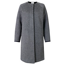 Buy Jigsaw Bonded Lace Coat, Grey Online at johnlewis.com