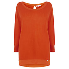 Buy Wishbone Marquax Merino Blend Knit Jumper, Neon Orange Online at johnlewis.com