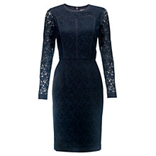 Buy Jigsaw Lace Panel Dress, Navy Online at johnlewis.com