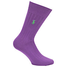 Buy Polo Ralph Lauren Egyptian Cotton Socks, Purple Online at johnlewis.com