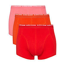 Buy Bjorn Borg Seasonal Trunks, Pack of 3, Pink/Red/Orange Online at johnlewis.com