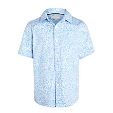 Buy John Lewis Heirloom Collection Boys' Floral Print Short Sleeve Shirt, Blue/White Online at johnlewis.com