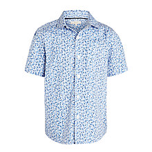 Buy John Lewis Heirloom Collection Short Sleeve Pattern Shirt, Blue Online at johnlewis.com