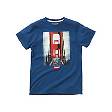 Buy Levi's Boys' Golden Gate Bridge T-Shirt, Blue Online at johnlewis.com