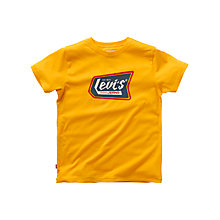 Buy Levi's Boys' Logo Print T-Shirt, Yellow Online at johnlewis.com