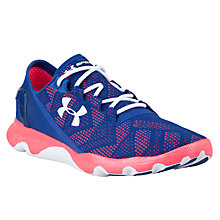 Buy Under Armour SpeedForm Apollo Vent Women's Running Shoes, Navy/Pink Online at johnlewis.com
