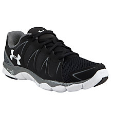 Buy Under Armour Men's UA Micro G Engage II Running Shoes, Black Online at johnlewis.com