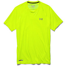 Buy Under Armour HeatGear Flyweight Running T-Shirt, Yellow Online at johnlewis.com