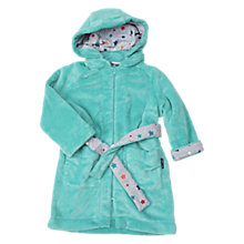 Buy Polarn O. Pyret Baby Teddy Fleece Zipper Robe, Blue Lagoon Online at johnlewis.com