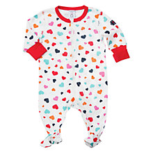 Buy Polarn O. Pyret Baby Heart Print Pyjamas, White Online at johnlewis.com