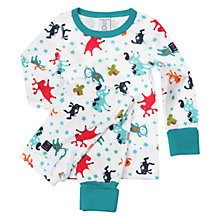 Buy Polarn O. Pyret Unisex Animals Pyjamas, Green Online at johnlewis.com