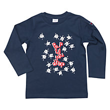 Buy Polarn O. Pyret Children's Popcorn Long Sleeve Top, Blue Online at johnlewis.com