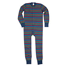 Buy Polarn O. Pyret Children's Stripe Onesie, Multi Online at johnlewis.com