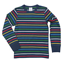 Buy Polarn O. Pyret Children's Long Sleeve Striped Top Online at johnlewis.com
