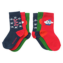 Buy Polarn O. Pyret Fun Fruit Socks, Pack of 3, Multi Online at johnlewis.com