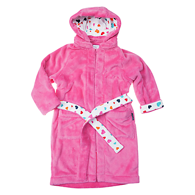 Polarn O. Pyret Girl's Teddy Fleece Robe, Pink