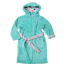 Buy Polarn O. Pyret Boy's Teddy Fleece Robe, Blue Lagoon Online at johnlewis.com