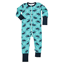 Buy Polarn O. Pyret Children's Moose Onesie, Blue Online at johnlewis.com
