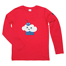 Buy Polarn O. Pyret Children's Cupcake Long Sleeve Top, Red Online at johnlewis.com