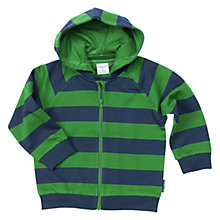 Buy Polarn O. Pyret Baby Striped Hoodie, Blue Online at johnlewis.com