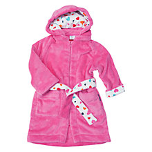 Buy Polarn O. Pyret Baby Teddy Fleece Zipper Robe, Pink Online at johnlewis.com