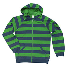 Buy Polarn O. Pyret Children's Stripe Hoodie, Blue/Green Online at johnlewis.com