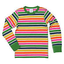 Buy Polarn O. Pyret Children's Block Stripe Long Sleeve Top, Multi Online at johnlewis.com