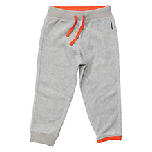 Buy Polarn O. Pyret Baby Lined Fleece Drawstring Trousers, Grey/Orange Online at johnlewis.com
