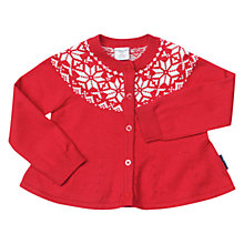 Buy Polarn O. Pyret Baby Snowflake Cardigan Online at johnlewis.com